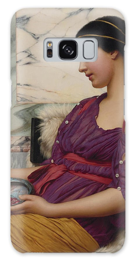 John William Godward (british Galaxy S8 Case featuring the painting Ismenia by John William