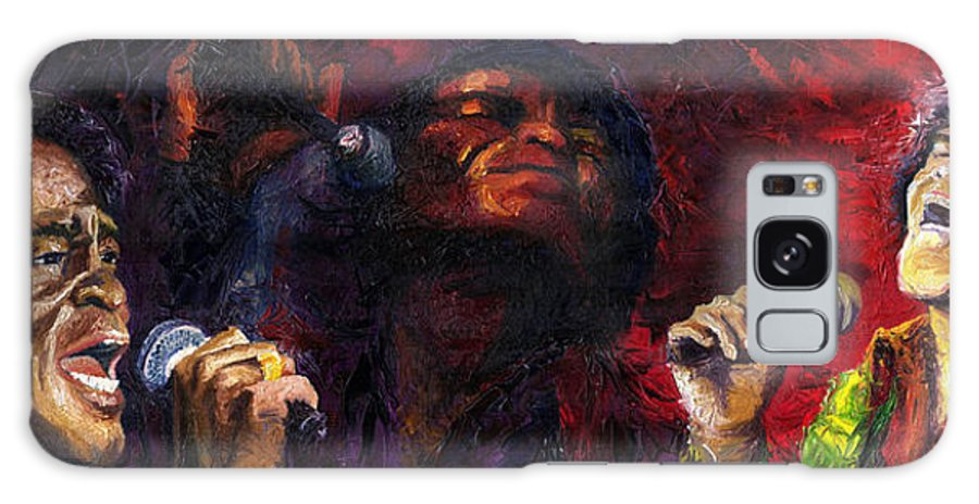 Jazz Galaxy S8 Case featuring the painting Jazz James Brown by Yuriy Shevchuk