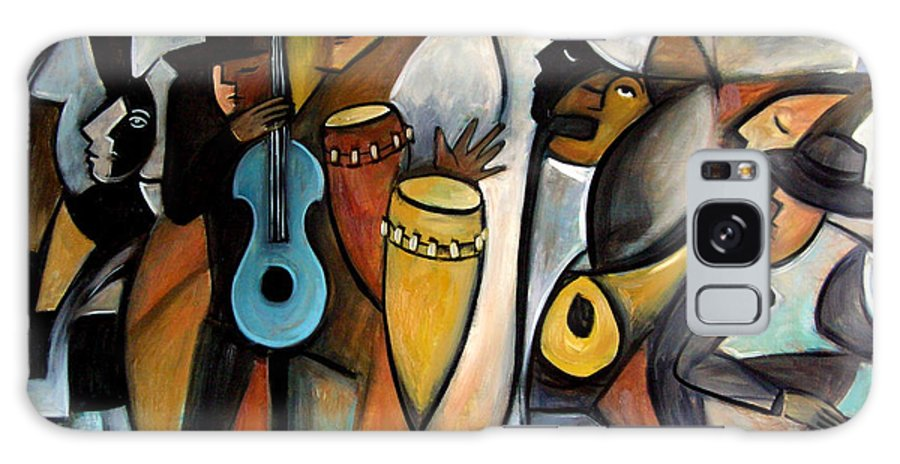 Latin Jazz Musicians Galaxy Case featuring the painting Jazzz by Valerie Vescovi