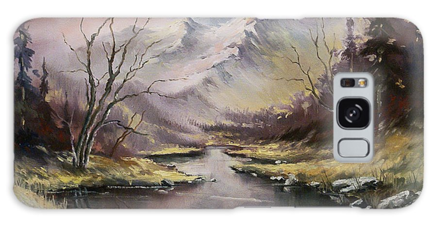 Original Landscape Oil Painting Galaxy S8 Case featuring the painting Landscape by Michael Lang