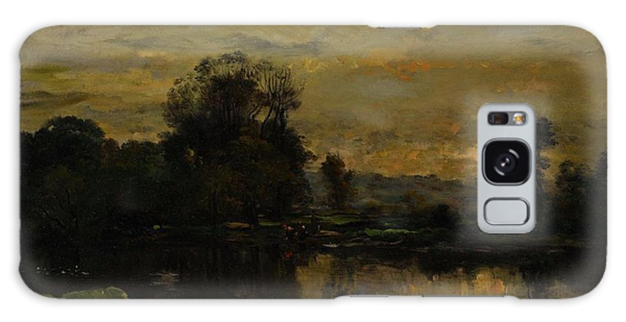 Landscape With Ducks Galaxy S8 Case featuring the painting Landscape With Ducks by Charles