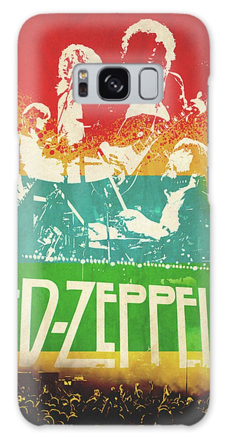 Rock. Led Galaxy S8 Case featuring the digital art Led Zeppelin by FHT Designs