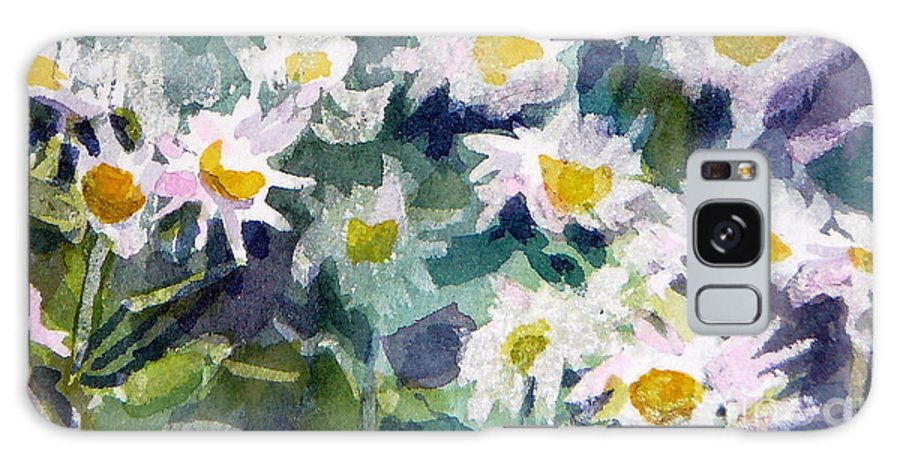 Flowers Galaxy Case featuring the painting Little Asters by Jan Bennicoff