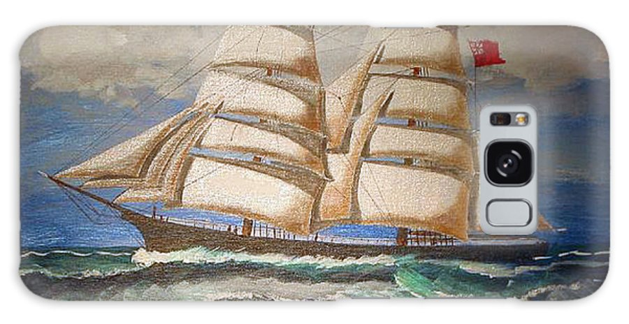 Tall Ship Galaxy S8 Case featuring the painting 2 Master Tall Ship by Richard Le Page