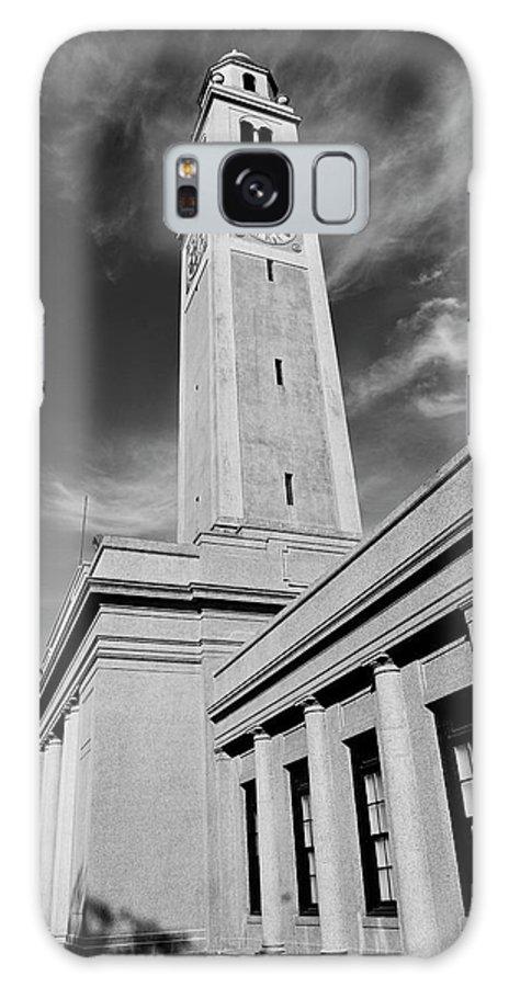 Lsu Galaxy S8 Case featuring the photograph Memorial Tower - Lsu Bw by Scott Pellegrin