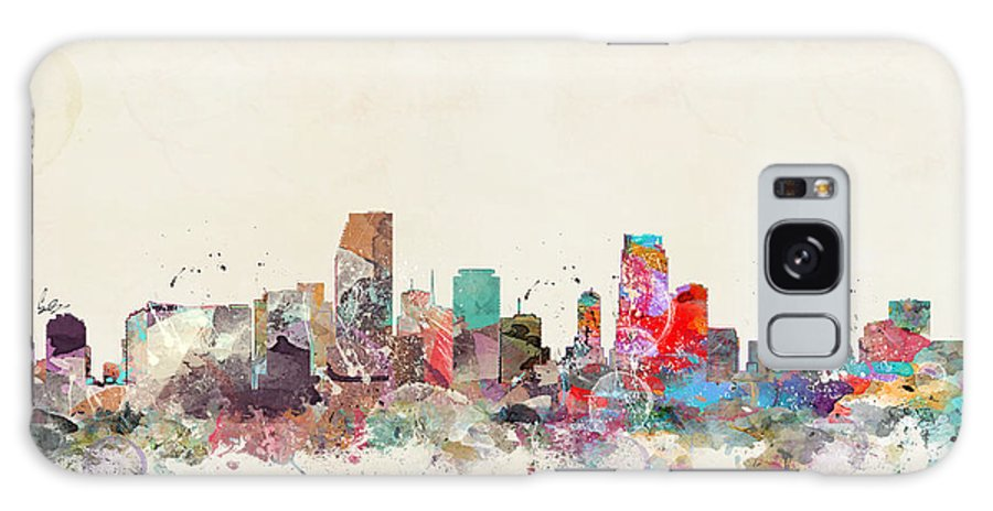 Miami City Skyline Galaxy S8 Case featuring the painting Miami Florida by Bri Buckley