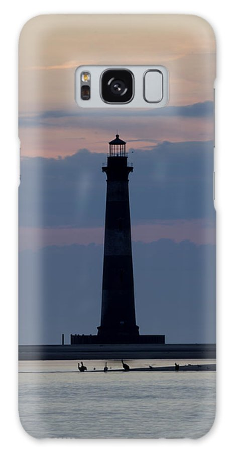 Morris Island Light House Morning Folly Beach Lowcountry South Carolina Landscape Water Beach Hdr Galaxy S8 Case featuring the photograph Morris Island Lighthouse by Dustin K Ryan