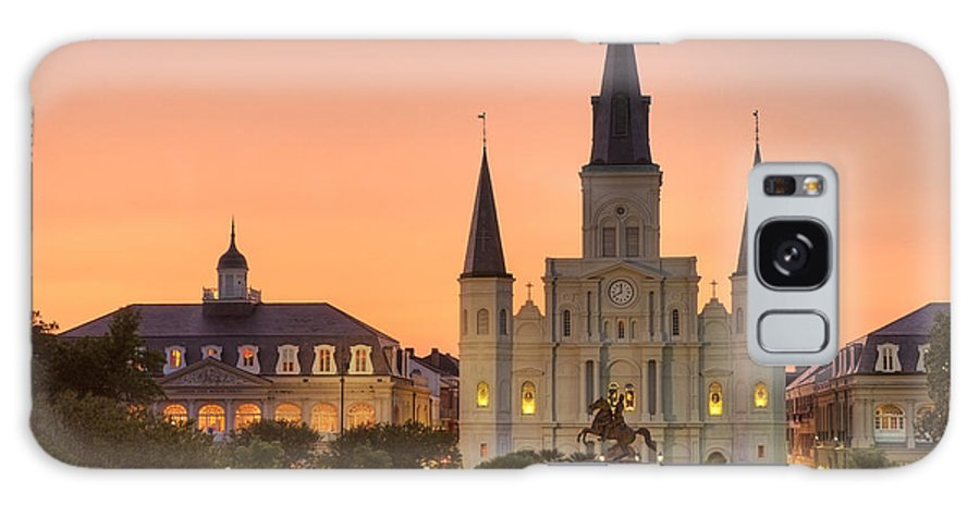 New Orleans Galaxy S8 Case featuring the photograph New Orleans St Louis Cathedral by Marie-Dominique Verdier
