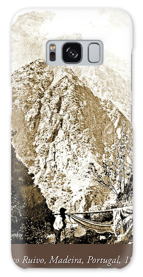 Mountain Galaxy S8 Case featuring the photograph Pico Ruivo Mountain, Madeira, Portugal, C.1900 by A Gurmankin
