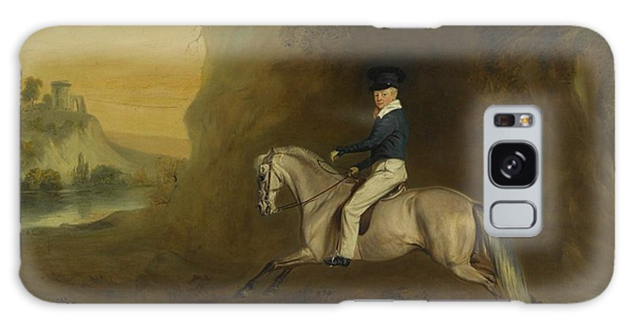 John Ferneley Snr. Portrait Of George Augustus Frederick Cavendish-bentinck () Galaxy S8 Case featuring the painting Portrait Of George by MotionAge Designs