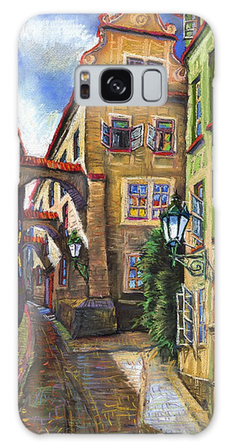 Prague Galaxy S8 Case featuring the painting Prague Old Street by Yuriy Shevchuk