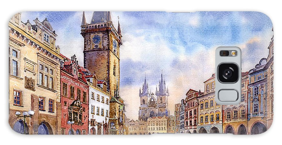 Watercolour Galaxy S8 Case featuring the painting Prague Old Town Square by Yuriy Shevchuk