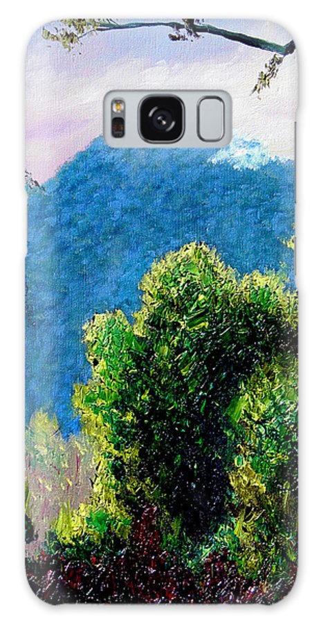 Rain Forrest Galaxy S8 Case featuring the painting Rain Forrest by Stan Hamilton