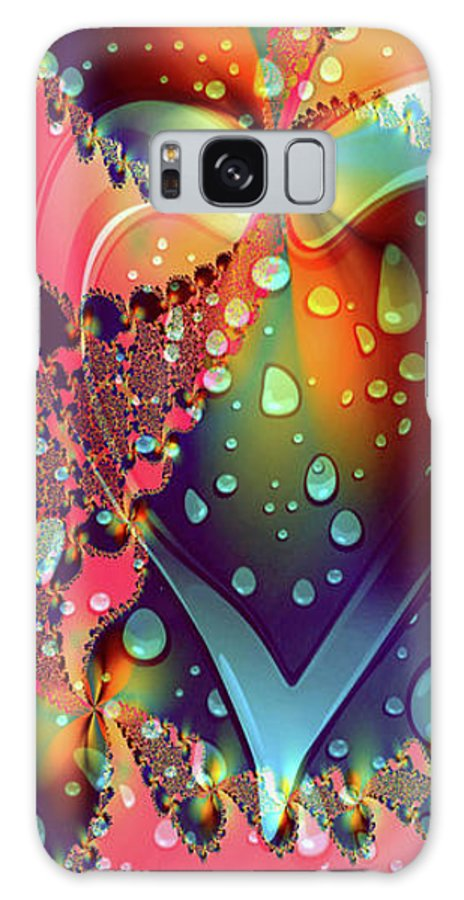 Greeting Cards Galaxy S8 Case featuring the digital art Raining In My Heart by Mitchell Watrous