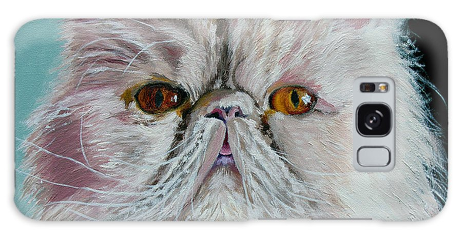 Cat Portrait Galaxy S8 Case featuring the painting Ralph by Stan Hamilton