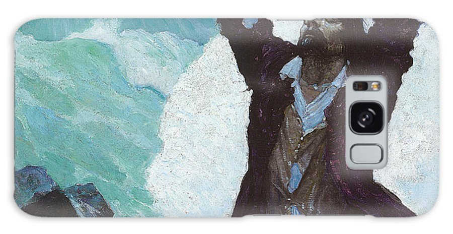Robinson Crusoe Galaxy S8 Case featuring the painting Robinson Crusoe by Newell Convers Wyeth