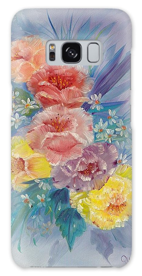 Roses Galaxy Case featuring the painting Roses by Quwatha Valentine