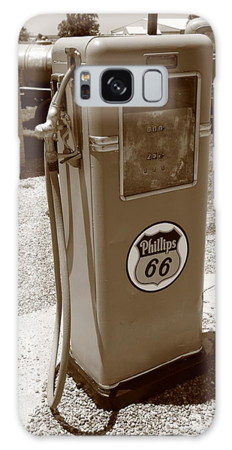 66 Galaxy S8 Case featuring the photograph Route 66 Gas Pump by Frank Romeo