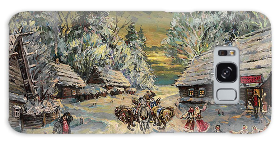 Korovin Galaxy S8 Case featuring the painting Russian Winter by MotionAge Designs