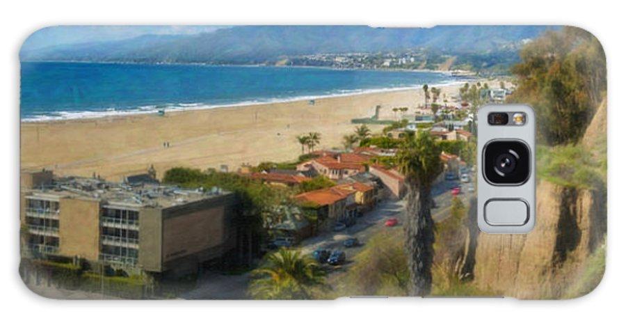 Santa Monica Ca Steps Palisades Park Bluffs Galaxy S8 Case featuring the photograph Santa Monica Ca Steps Palisades Park Bluffs by David Zanzinger
