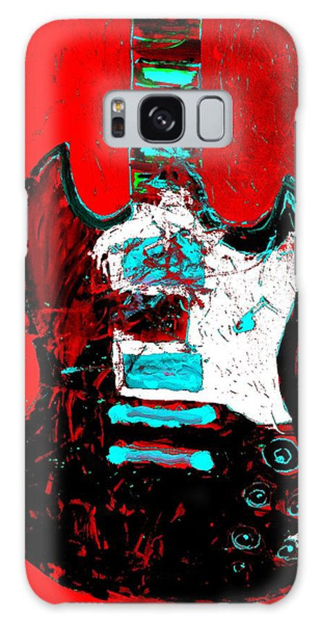 Sg Guitar Galaxy S8 Case featuring the painting sg by Neal Barbosa