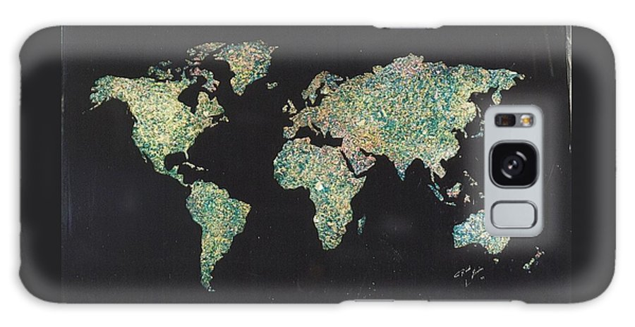 World Maps Galaxy S8 Case featuring the painting Shattered World by Rick Silas