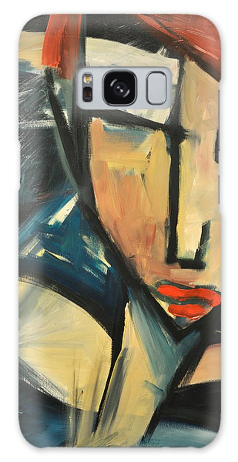 Woman Galaxy S8 Case featuring the painting Simone by Tim Nyberg