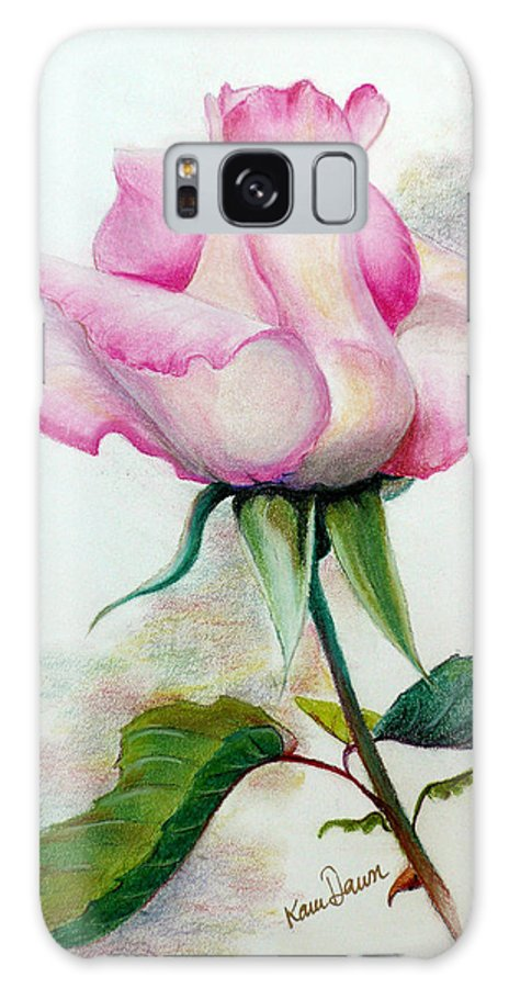 Rose Pastel Paintings Galaxy S8 Case featuring the pastel So Pink by Karin Dawn Kelshall- Best