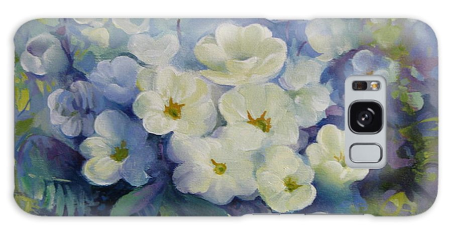 Primrose Galaxy Case featuring the painting Spring by Elena Oleniuc