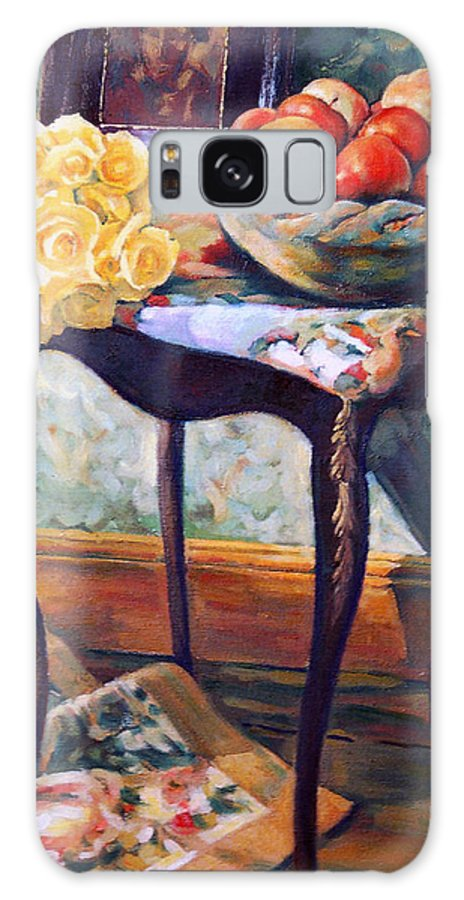 Still Life Galaxy Case featuring the painting Still Life With Roses by Iliyan Bozhanov
