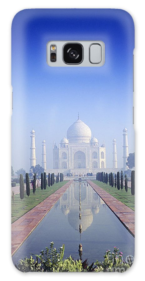 Agra Galaxy S8 Case featuring the photograph Taj Mahal View by Gloria & Richard Maschmeyer - Printscapes