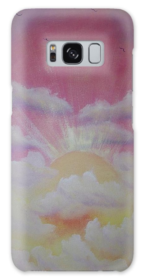 Bird Galaxy S8 Case featuring the painting The Ascension by Laurie Kidd