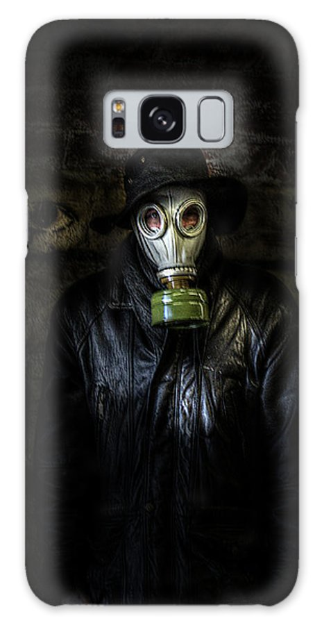 The Galaxy S8 Case featuring the photograph The Gas Mask Man by Mark Hunter