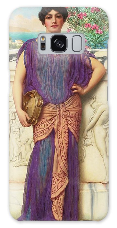 John William Godward Galaxy S8 Case featuring the painting The Tambourine Girl by John William