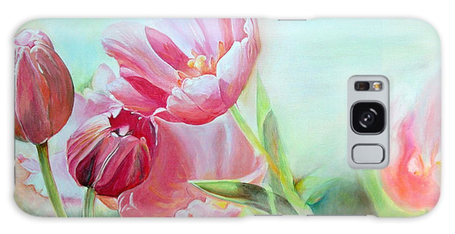 Floral Painting Galaxy Case featuring the painting Tulipes by Muriel Dolemieux