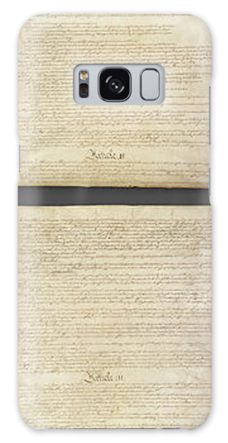 Us Constitution Galaxy Case featuring the photograph United States Constitution, Usa by Panoramic Images