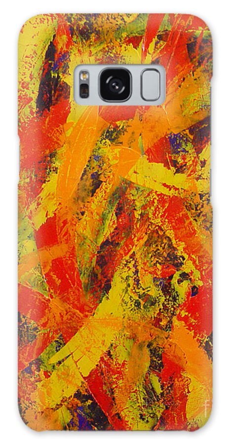 Abstract Galaxy S8 Case featuring the painting Untitled by Dean Triolo
