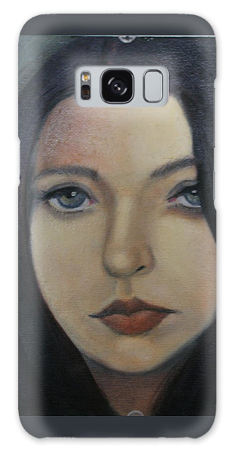 Girl Galaxy S8 Case featuring the painting That Stare by Toni Berry