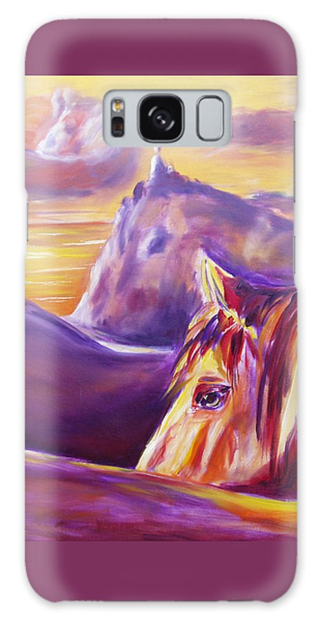 Horses Galaxy S8 Case featuring the painting Horse World by Gina De Gorna