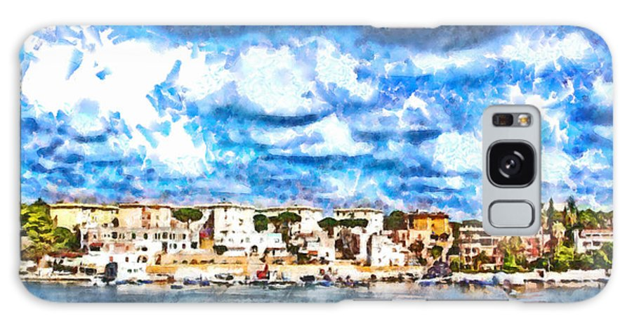 Clouds Galaxy S8 Case featuring the painting View Of Brindisi From The Ship by Giuseppe Cocco