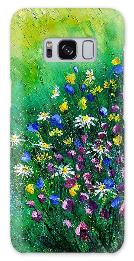 Flowers Galaxy S8 Case featuring the painting Wild Flowers by Pol Ledent