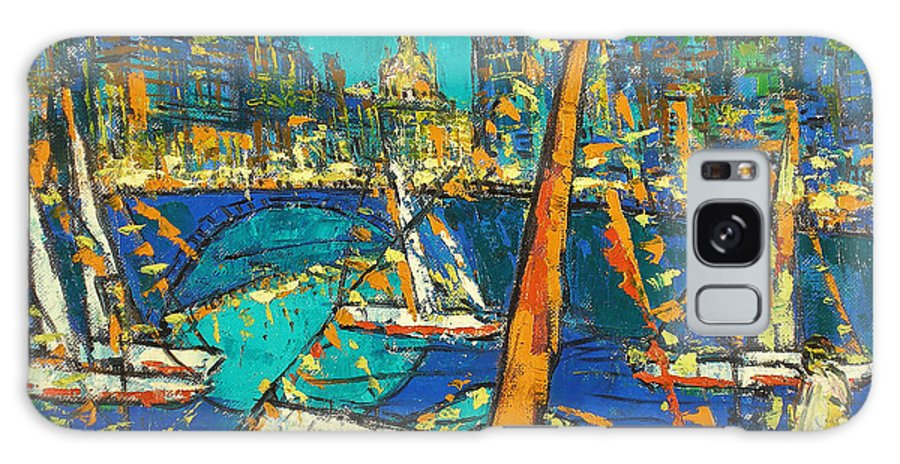 Bay Galaxy S8 Case featuring the painting City by Robert Nizamov