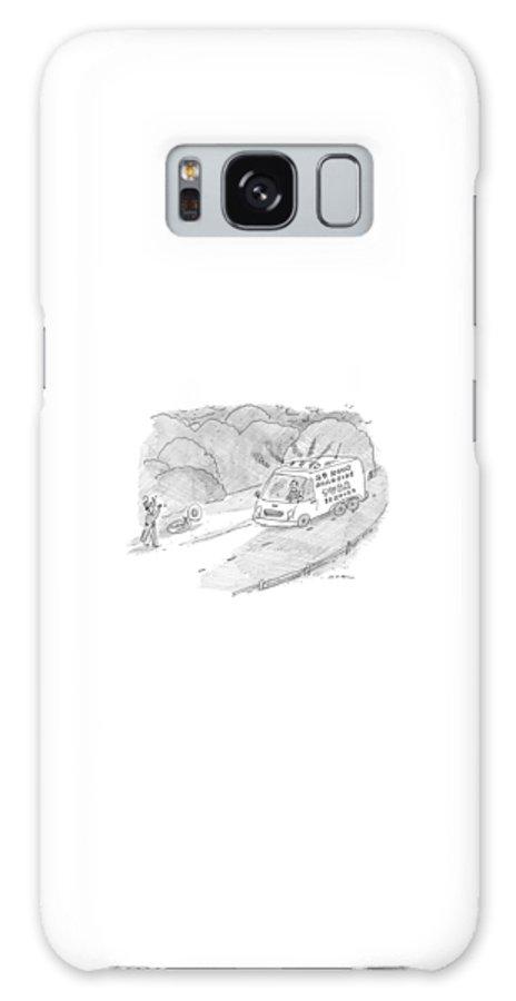 24 Hr. Roadside Tuba Service Galaxy Case featuring the drawing 24 Hour Roadside Tuba Service by Michael Maslin