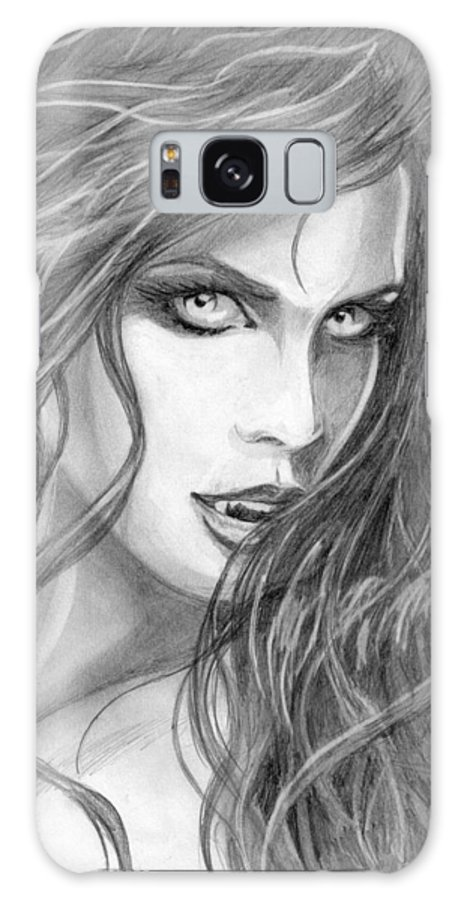 #vampiress Galaxy S8 Case featuring the drawing Turned by Kristopher VonKaufman