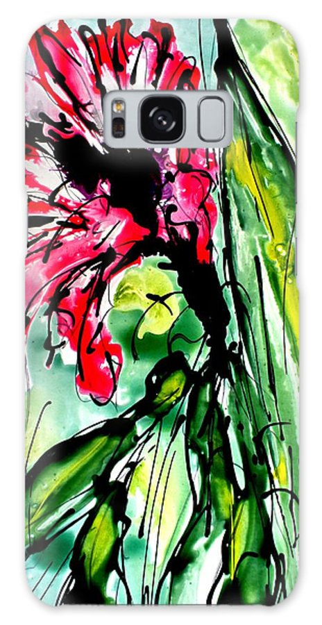 Galaxy S8 Case featuring the painting The Divine Flower by Baljit Chadha