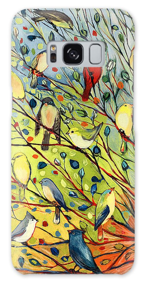Bird Galaxy Case featuring the painting 27 Birds by Jennifer Lommers
