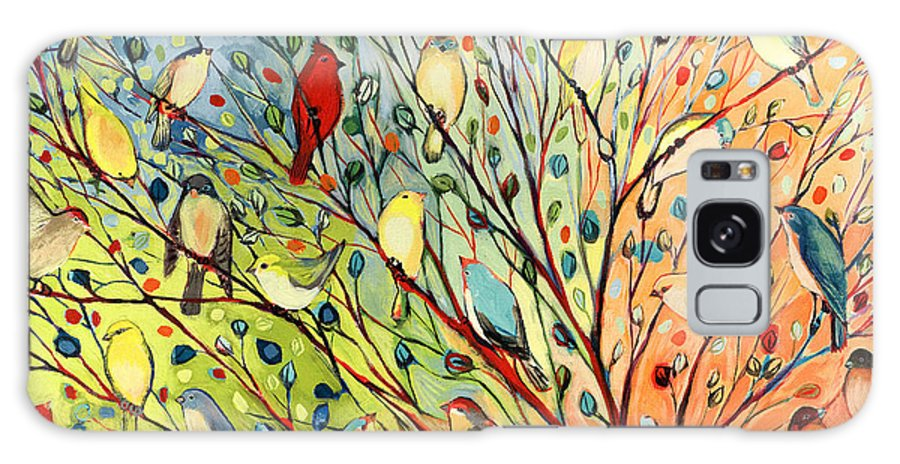 Bird Galaxy Case featuring the painting 27 Birds 27 by Jennifer Lommers