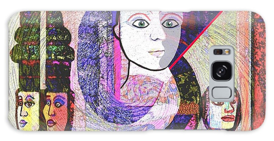Face Galaxy S8 Case featuring the digital art 275 - Statuesque by Irmgard Schoendorf Welch