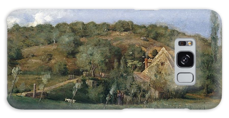 Julian Alden Weir (american Galaxy S8 Case featuring the painting A French Homestead by Julian Alden