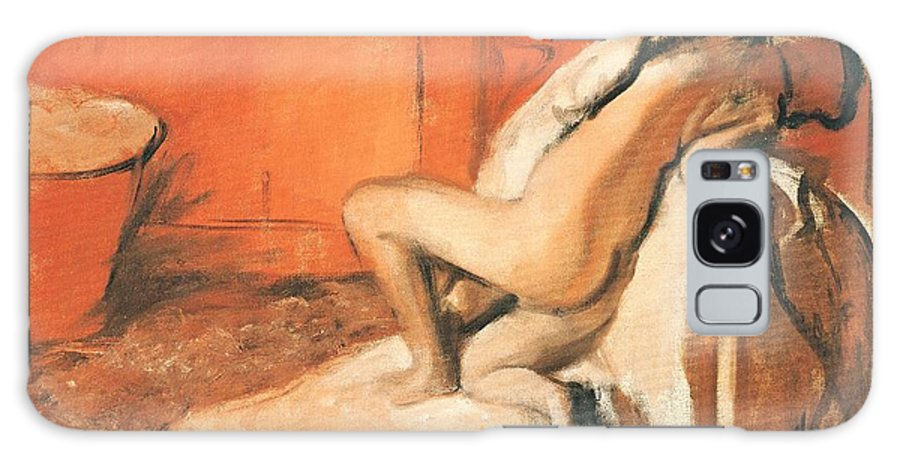 After The Bath Galaxy Case featuring the pastel After The Bath by Edgar Degas